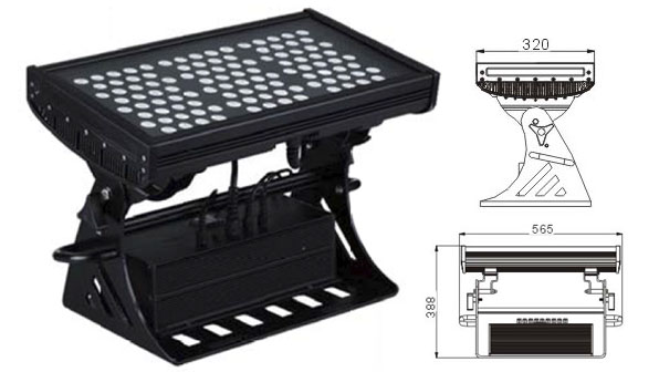 Led dmx light,air a stiùireadh,500W Ceàrnag IP65 DMX Lìonadair balla LED 1, LWW-10-108P, KARNAR INTERNATIONAL GROUP LTD