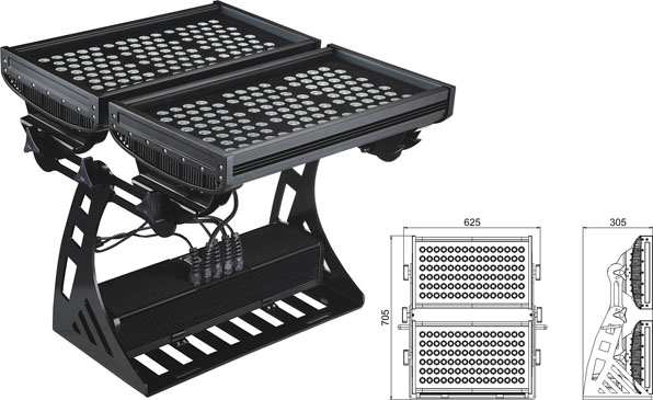 Guangdong led factory,led floodlight,500W Square IP65 RGB LED flood light 2, LWW-10-206P, KARNAR INTERNATIONAL GROUP LTD