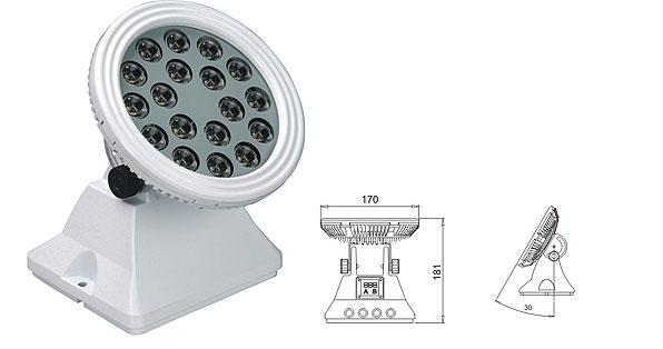 Led dmx light,Solas tuiltean LED,25W 48W Ceàrnagach uisge-dìon gunna LED 1, LWW-6-18P, KARNAR INTERNATIONAL GROUP LTD