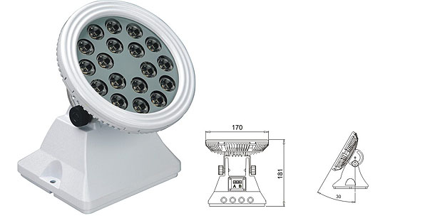 Led dmx light,stiùir floodlight,25W 48W LED lisht tuil 1, LWW-6-18P, KARNAR INTERNATIONAL GROUP LTD