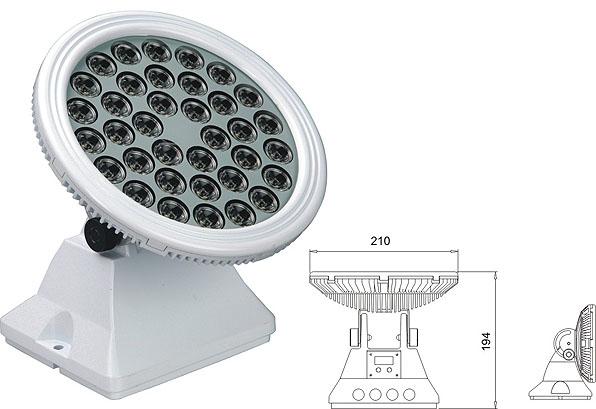 Led dmx light,Solas tuiltean LED,25W 48W Ceàrnagach uisge-dìon gunna LED 2, LWW-6-36P, KARNAR INTERNATIONAL GROUP LTD