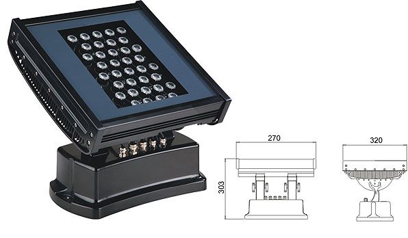 Led dmx light,led tunnel light,108W 216W Square waterproof LED flood lisht 1, LWW-7-36P, KARNAR INTERNATIONAL GROUP LTD