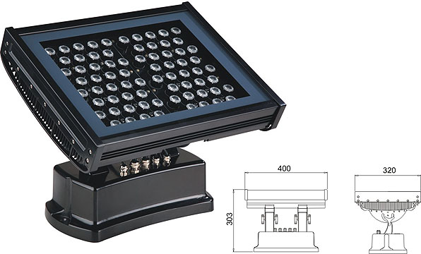 Led dmx light,led tunnel light,108W 216W Square waterproof LED flood lisht 2, LWW-7-72P, KARNAR INTERNATIONAL GROUP LTD