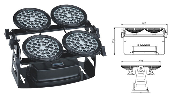 Zhongshan led factory,led floodlight,155W Square waterproof LED flood lisht 1, LWW-8-144P, KARNAR INTERNATIONAL GROUP LTD