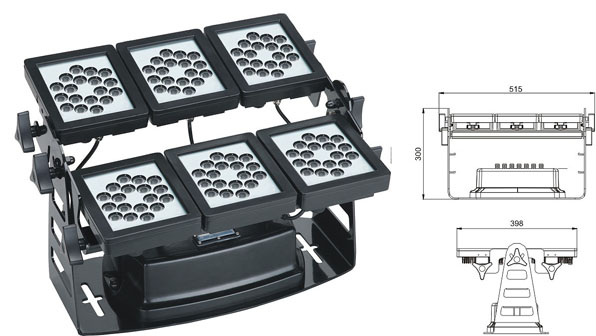 Zhongshan led factory,LED wall washer lights,220W Square waterproof LED flood lisht 1, LWW-9-108P, KARNAR INTERNATIONAL GROUP LTD