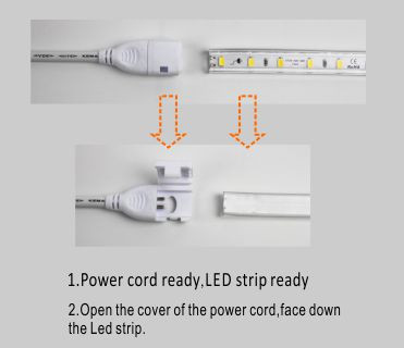 Guangdong led factory,led tape,110V AC No Wire SMD 5730 led strip light 5, install_1, KARNAR INTERNATIONAL GROUP LTD