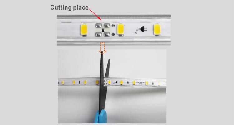 Guangdong udhëhequr fabrikë,LED dritë litar,110V AC Nuk ka Wire SMD 5730 LEHTA LED ROPE 9, install_5, KARNAR INTERNATIONAL GROUP LTD