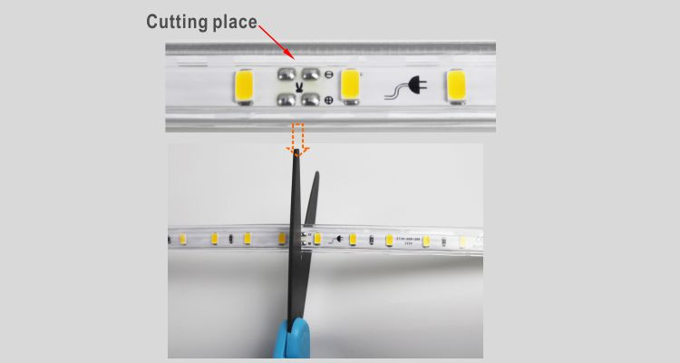 Guangdong udhëhequr fabrikë,rrip fleksibël,110V AC Nuk ka Wire SMD 5730 LEHTA LED ROPE 9, install_5, KARNAR INTERNATIONAL GROUP LTD