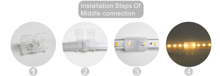 Guangdong udhëhequr fabrikë,rrip fleksibël,110V AC Nuk ka Wire SMD 5730 LEHTA LED ROPE 10, install_6, KARNAR INTERNATIONAL GROUP LTD