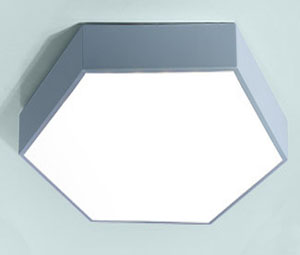 Led dmx light,Macarons color,42W Hexagon led ceiling light 7, blue, KARNAR INTERNATIONAL GROUP LTD