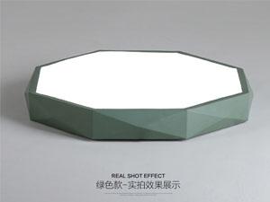 Guangdong udhëhequr fabrikë,Ngjyra me makarona,42W Gjashtëkëndëshi bëri dritë tavani 4, green, KARNAR INTERNATIONAL GROUP LTD