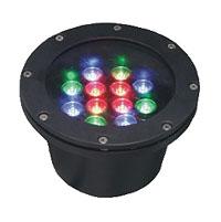 Led drita dmx,Dritë nëntokësore LED,12W Drita rrethore e varrosur 5, 12x1W-180.60, KARNAR INTERNATIONAL GROUP LTD