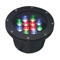 Led dmx light,LED fountain lights,24W Circular buried lights 5, 12x1W-180.60, KARNAR INTERNATIONAL GROUP LTD