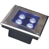 Led drita dmx,Dritë nëntokësore LED,12W Drita rrethore e varrosur 1, 3x1w-150.150.60, KARNAR INTERNATIONAL GROUP LTD