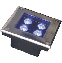 Led dmx light,LED fountain lights,1W Circular buried lights 1, 3x1w-150.150.60, KARNAR INTERNATIONAL GROUP LTD