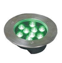 Led dmx light,LED fountain lights,1W Circular buried lights 4, 9x1W-160.60, KARNAR INTERNATIONAL GROUP LTD