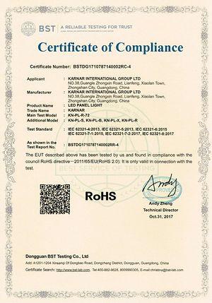 Certificato KARNAR INTERNATIONAL GROUP LTD