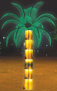 LED coconut palm tree chiedza KARNAR INTERNATIONAL GROUP LTD